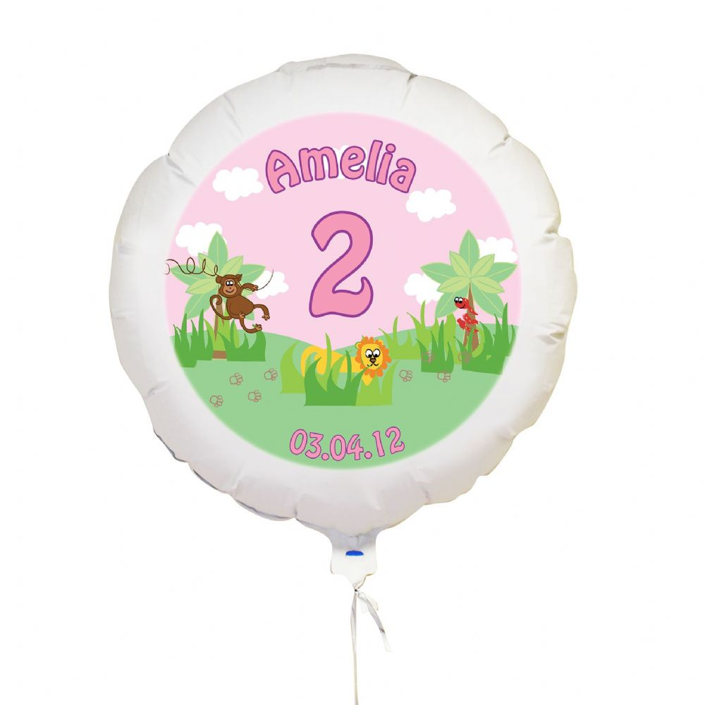 Personalised Pink Animal Balloon